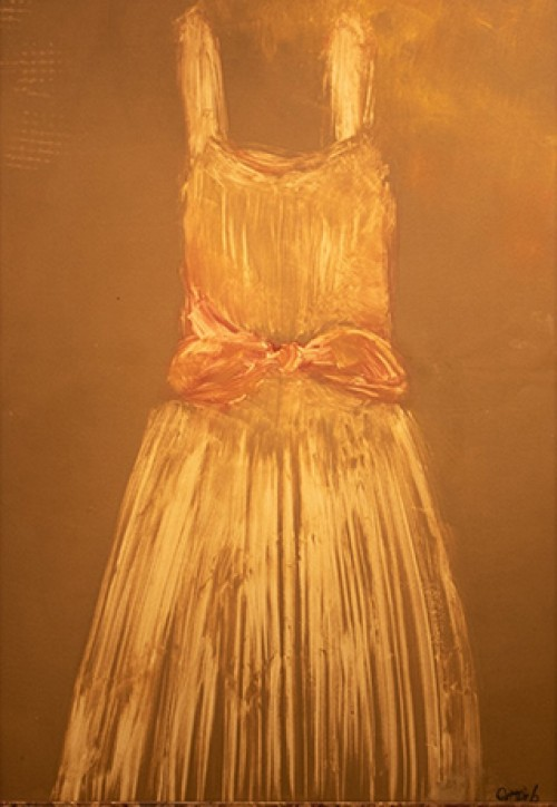 "Image: Natalie Gottlieb, ""The Dress,"" 2015, monoprint"
